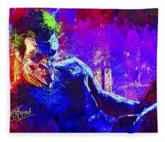 Joker's Grin Fleece Blanket