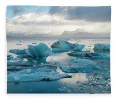 Jokulsarlon, The Glacier Lagoon, Iceland 6 Fleece Blanket