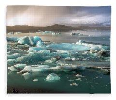 Jokulsarlon The Magnificent Glacier Lagoon, Iceland Fleece Blanket