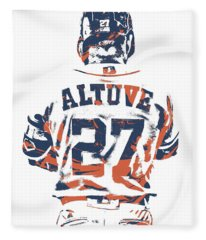 Jose Altuve Houston Astros Pixel Art 10 Fleece Blanket