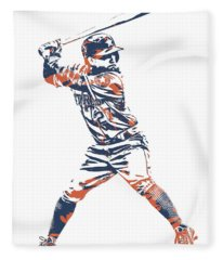 Jose Altuve Houston Astros Pixel Art 11 Fleece Blanket