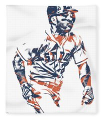 Jose Altuve Houston Astros Pixel Art 12 Fleece Blanket