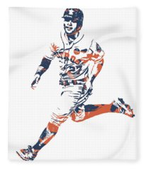 Jose Altuve Houston Astros Pixel Art 20 Fleece Blanket