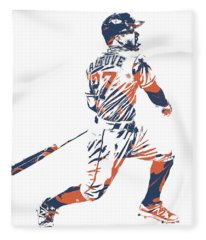 Jose Altuve Houston Astros Pixel Art 22 Fleece Blanket