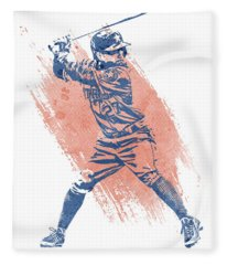 Jose Altuve Houston Astros Water Color Art 1 Fleece Blanket