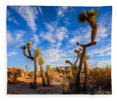 Joshua Tree Dawn Fleece Blanket