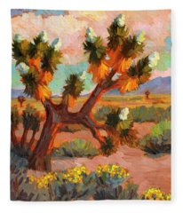 Joshua Tree Fleece Blanket