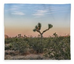 Joshua Tree Evening Fleece Blanket