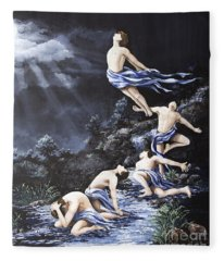 Journey Into Self Male Fleece Blanket