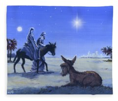 Journey To Bethlehem Fleece Blanket