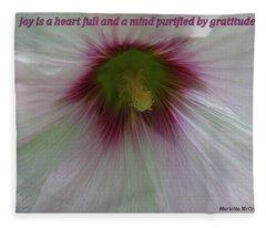 Joy Is A Heart Full Of Gratitude Fleece Blanket