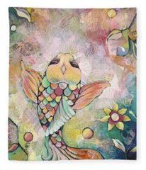 Joyful Koi I Fleece Blanket