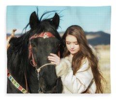 Joylene 9 Fleece Blanket