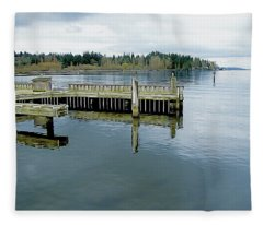 Juanita Bay In Gray Fleece Blanket