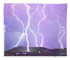 Judgement Day Lightning Fleece Blanket