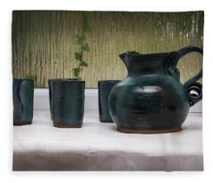 Jug And Four Mugs 1 Fleece Blanket