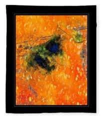 Jug In Black And Orange Fleece Blanket