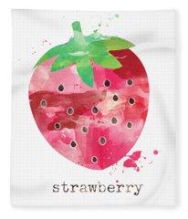 Juicy Strawberry Fleece Blanket