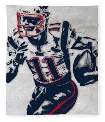 Julian Edelman New England Patriots Pixel Art 4 Fleece Blanket