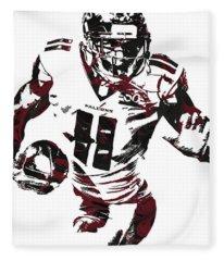 Julio Jones Atlanta Falcons Pixel Art 4 Fleece Blanket