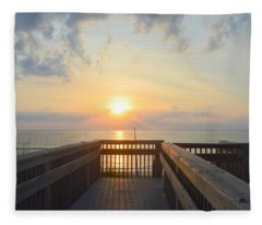 June 17th Sunrise Fleece Blanket