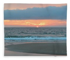 June 20 Nags Head Sunrise Fleece Blanket