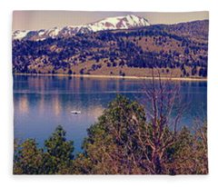 June Lake Panorama Fleece Blanket