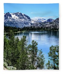 June Lake Portrait Fleece Blanket