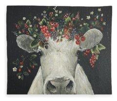 June The Berry Cow Fleece Blanket