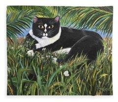 Jungle Kitty Fleece Blanket