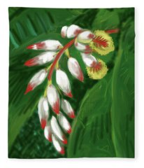Jungle Orchid Fleece Blanket