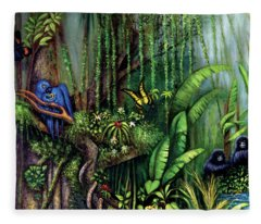 Jungle Talk Fleece Blanket
