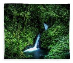 Jungle Waterfall Fleece Blanket
