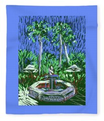 Jungles Of Palm Beach Fleece Blanket