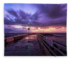 Jupiter Inlet Jetty Fleece Blanket