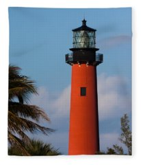 Jupiter Inlet Lighthouse Fleece Blanket