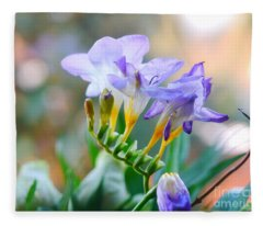 Just A Freesia Fleece Blanket