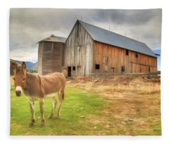 Just Another Day On The Farm Fleece Blanket