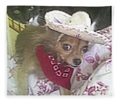 Just Because She Is A Chihuahua Fleece Blanket