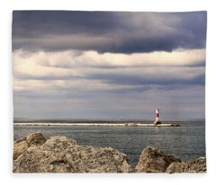 Just Before The Storm Fleece Blanket