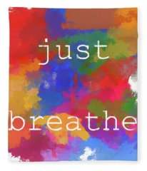 Just Breathe Fleece Blanket