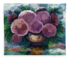 Just For You Pink Toned Roses Fleece Blanket