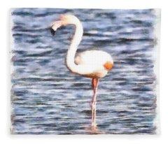 Just Like A Flamingo Fleece Blanket