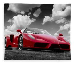 Just Red 1 2002 Enzo Ferrari Fleece Blanket
