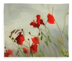 Just Some Poppies Fleece Blanket