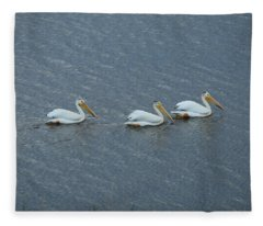 Triple Pelicans Lake John Swa Co Fleece Blanket