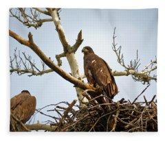 Juvenile Eagles Fleece Blanket
