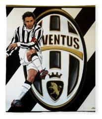 Juventus Fc Turin Painting Fleece Blanket