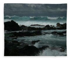Ka Makani Kaiili Aloha Hookipa Maui Hawaii  Fleece Blanket