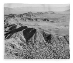 Kabul Mountainous Urban Sprawl Fleece Blanket